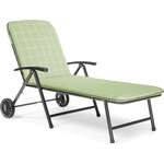 Kettler Novero Sunlounger with Cushion in Sage
