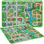 (Mega - 173cm x 120cm - EVA) Giant Kids City Playmat Fun Town Cars Play Road Carpet Rug EVA Foam Toy Mat
