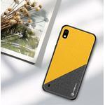 PINWUYO Honor Series PU Leather Coated TPU Cover for Samsung Galaxy A10 - Yellow