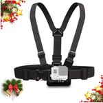 Chest Mount Harness Strap for Gopro Hero 7 6 5 4 3 3 Black Silver Fusion and with J-Hook - Fully Adjustable Strap Size