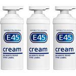 E45 Cream Pump 500g x 3