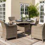 2021 Kettler Charlbury 4 Seat Round Dining Table Set