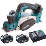 Makita DKP180Z LXT 18V Li-Ion Planer 82mm Body with 2 x 5.0Ah Battery & Charger