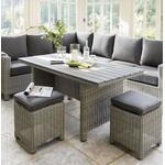 2021 Kettler Palma Casual Garden Dining Corner Sofa Set – Whitewash