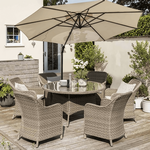 Kettler Charlbury 6 Seater Dining Set with Dining Chairs