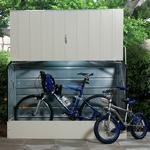 6'4 x 2'9 Trimetals Metal Bike Shed - Cream (1.95m x 0.88m)