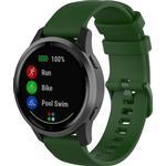 For Garmin Vivoactive 4 22mm Silicone Strap(Dark Green)