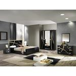 Adrianne Italian Black And Gold Gloss Bedroom Furniture Collection