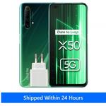 Global Version Realme X50 X 50 5G Smartphone 6GB 128GB Snapdragon 765G 6.57-inch 120Hz Ultra Display 48MP Quad Rear Cams 30W Charge