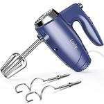 Liraip Hand Mixer Electric, 5 Speed Handheld Mixer for Whipping,Mixing Cookies,Brownies,Cakes and Dough with 4 Accessories (Blue) - Acceptable