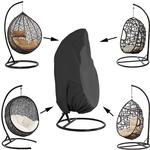 LangRay Garden Hanging Chair Cover Rattan Wicker Waterproof Hanging Chair Cover Egg Protective Cover Chair Water and Dust Resistant - 190 X115cm