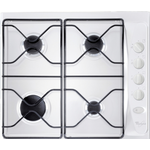 Whirlpool AKM260WH White 60cm Built in 4 burner gas hob with enamel pan stands