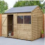 Forest Overlap 8x6 Reverse Apex Shed