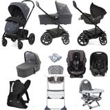 Joie Chrome DLX (Gemm & Every Stage Car Seat) Everything You Need Travel System Bundle with Carrycot - Pavement
