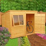6' x 8' Shire Pent Shiplap Wooden Garden Shed (1.93m x 2.53m)