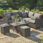 Kettler Palma Mini Corner Rattan Outdoor Sofa Set with Coffee Table