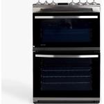 John Lewis & Partners JLFSIC621 Double Electric Cooker, Black