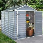 Palram-Canopia SkyLight Plastic Anthracite Apex Shed 6X8