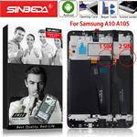 Originele Super Amoled Voor Samsung A10 A105 Lcd Touch Screen Met Frame Voor Samsung Galaxy M10 M105F Lcd-scherm digitizer