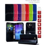 (Red) Wallet Phone Case for Moto E5 Play (UK) - Magenet Tab with Stand Secure Cover