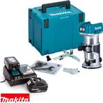 Makita DRT50ZJ 18V Cordless Brushless Router/Trimmer With 2 x 5Ah Batteries, Charger & Case