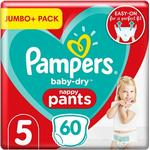 Pampers Baby Dry Pants Size 5 60 Nappies Jumbo Pack