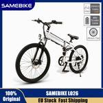 EU STOCK Samebike LO26 48V 500W electric mountain bike Folding ebike Eu plug electric bicycle 26 Inch Tire 10.4Ah Li-ion Battery Moped Bike