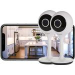 Time2 Sophia2 1080p Fixed Indoor WiFi Home Security Camera (2 Pack)
