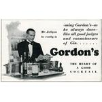 Advert for Gordons Gin 1929. Mounted Print. Advertisement for Gordon's Gin, as endorsed by S. M. Jolly, bartender at the Ambassadors Club in.