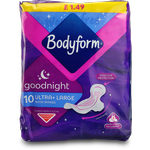 Bodyform Ultra Goodnight with Wings 10s