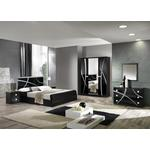 Adrianne Italian Black Gloss Bedroom Furniture Collection