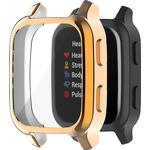 Electroplating TPU Smart Watch Protective Case for Garmin Venu Sq - Rose Gold