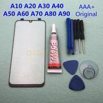 Originele Externe Glazen Lens Voor Samsung Galaxy A50 A30 A10 A20 A40 A60 A70 A80 A90 Lcd Touch Screen voor + B-7000 Lijm