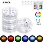 Tomshine Hot Tub Lights IP68 Waterproof Underwater Light 4 Packs with 2 RF Remote Control 13 LED Beads Submersible Led Light for Hot Tub, Lazy Spa,