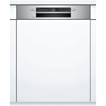 BOSCH Semi Integrated Dishwasher - 12 Place Setting - Stainless Steel Fascia - E Energy