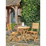 KETTLER RHS Chelsea Garden Bistro Table & Chairs Set, FSC-Certified (Eucalyptus Wood), Natural