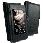 Faux Leather Case Cover for Sony Walkman NW-A35 / A45 - Black