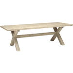 KETTLER Cora 8 Seater Rectangular Garden Dining Table, FSC-Certified (Acacia Wood), White Wash