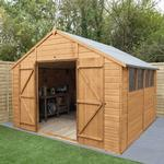 Shiplap Dip Treated 10x10 Apex Shed - Double Door