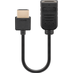 Short 10cm HDMI Adapter Cable - Male to Female Extension