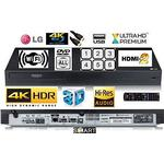 LG UBK90 SMART WIFI 4K UHD (Ultra High Definition) Blu-ray /DVD/CD player with MULTIREGION for DVD / HDR /3D- With Hi-Res Audio