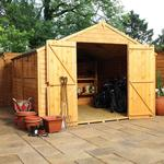 Overlap Apex Shed 10'x10'