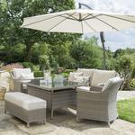 2021 Kettler Charlbury Casual 6-Seat Garden Dining Sofa Set