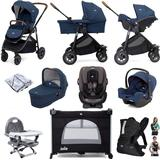 Joie Versatrax (i-Snug + Every Stage) Everything You Need Travel System Bundle with Carrycot - Deep Sea