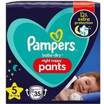 Pampers Baby-Dry Night Nappy Pants Size 5 35 Nappies - 12-17kg