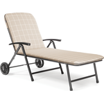 Kettler Novero Sunlounger with Cushion in Stone