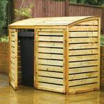 Double Wooden Wheelie Bin Storage - Rowlinson