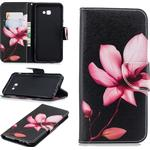 Pattern Printing PU Leather Magnetic Wallet Stand Mobile Phone Cover for Samsung Galaxy J4 Plus / J4 Prime - Pink Flower