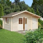 Palmako Emma 4.7m x 3.5m Log Cabin Summer House with Shed (34mm)