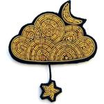 Macon & Lesquoy - Gold Cloud Star Brooch